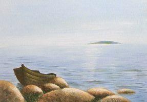 ekan vid stranden