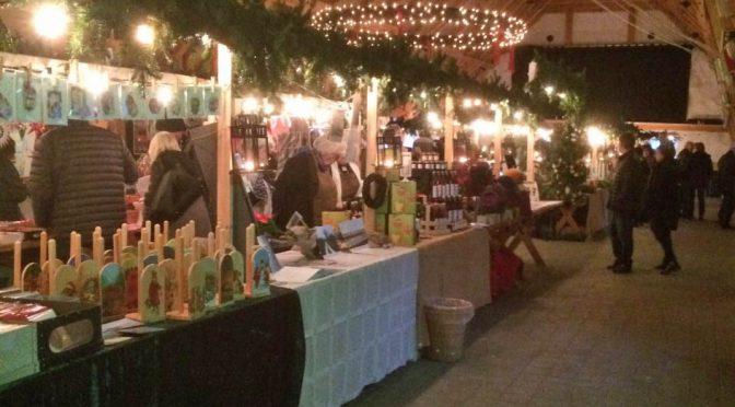 Julmarknad på Sölvesborgs Slottslängor
