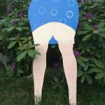 Trädgårds-rumpa blå