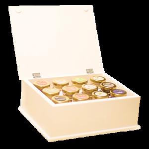 presentlåda med honung